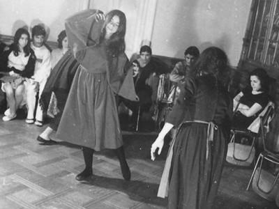 """Cuadro """"Mortalidad Infantil"""", presentanción del BAFUTE. 1971. (Donación Omar Solís)"""