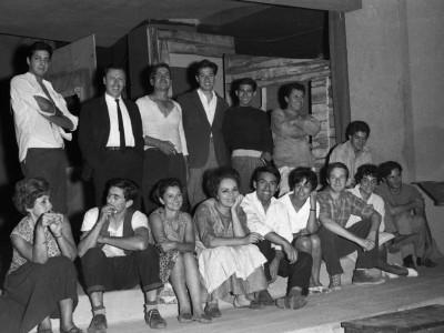 "Elenco de la obra ""Pan caliente"", del Teatro Teknos. 1967."