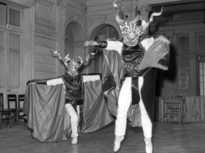 Diablada, ensayo del BAFUTE. 1969.