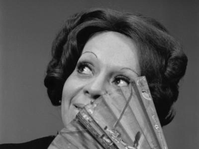 Gladys del Río, actriz del Teatro Teknos. 1975.
