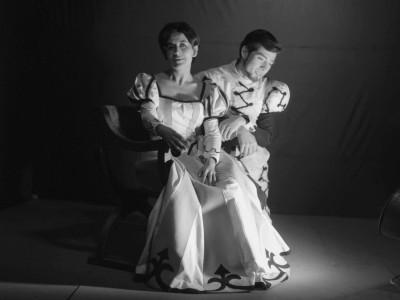 """Norma Vidal e Igor Cantillana, parte del elenco de la obra """"Don Juan"""". Sin fecha."""