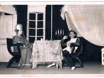 """Obra """"Cuento de verano"""". 1961. En la fotografía: Lucila Gamboa y Tomás Ireland. (Donación de Tomás Ireland)"""