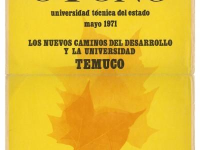 Afiche para Escuelas de Temporadas, Taller Gráfico UTE, 1971.