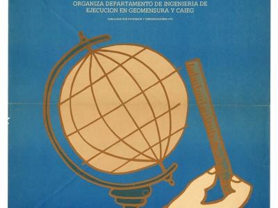 Afiche para Semana de Geomensura, Taller Gráfico UTE, 1972.