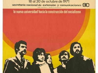 Afiche Escuelas de Temporada, Taller Gráfico UTE, 1971.