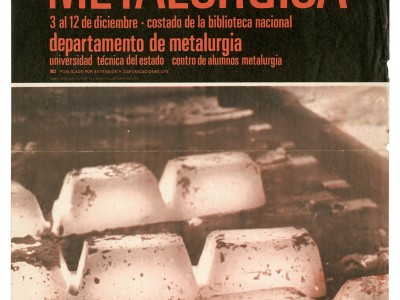 Afiche Exposición Metalúrgica, Taller Gráfico UTE.