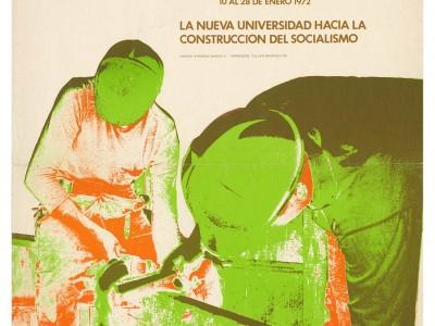 Afiche Escuelas de Temporada, Taller Gráfico UTE, 1972.