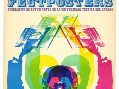 Afiche aniversario FEUT, Taller Gráfico UTE, 1969.