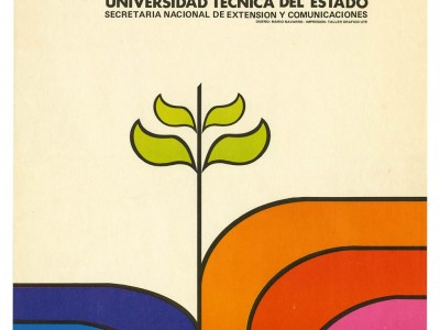 Afiche Escuela de Temporada, Taller Gráfico UTE, 1973.