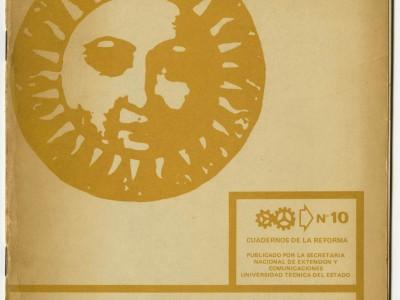 Portada Cuadernos de la Reforma n° 10, Estatuto Orgánico. Taller Gráfico UTE, 1971.