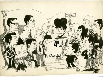 Caricatura realizada por el diseñador Mario Navarro de su graduación de la carrera de publicidad.
