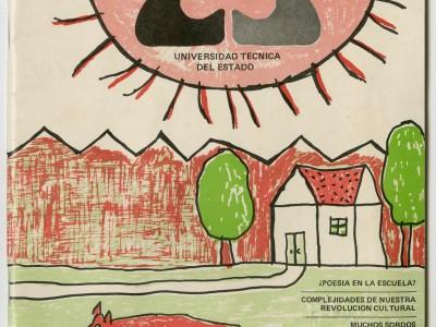 Portada revista Talleres de la Cultura, Taller Gráfico UTE, 1973.