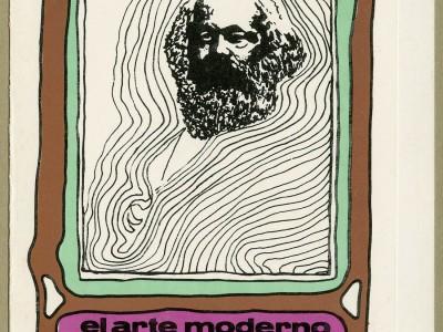 """Portada del libro de Ediciones UTE """"El arte moderno y la teoría marxista del arte"""" de Carlos Maldonado. Taller Gráfico UTE."""