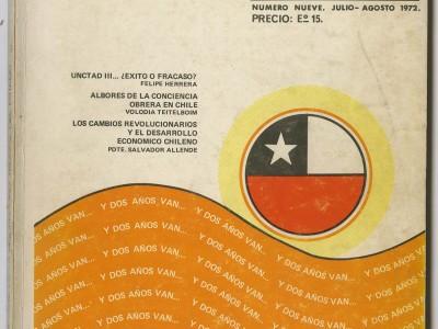 Portada Revista de la Universidad Técnica del Estado, Taller Gráfico UTE.
