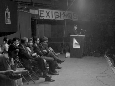 Concentración en el Caupolicán 1968