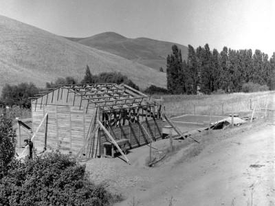 Escuela construida por estudiantes de la UTE durante los Trabajos Voluntarios de 1966