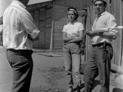 Estudiantes en Trabajos Voluntarios organizados por la FEUT en la Provincia de Malleco, 1966